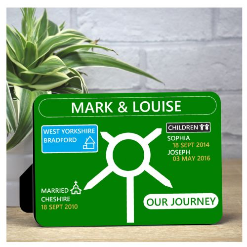 Personalised Family Our Journey Panel Print F68 - Keepsake Gift